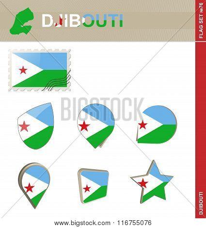 Djibouti Flag Set, Flag Set #76