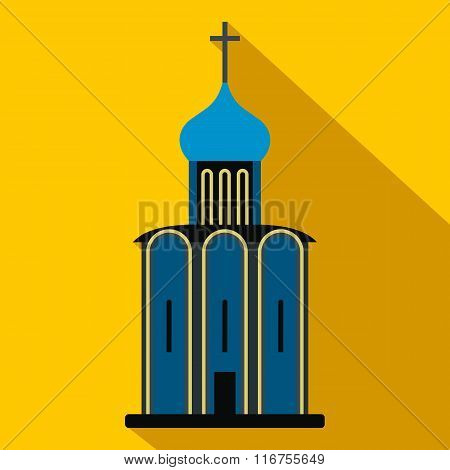 Orthodox church flat icon