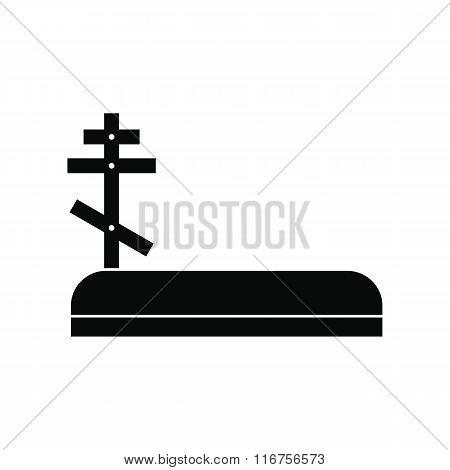 Cemetery black simple icon