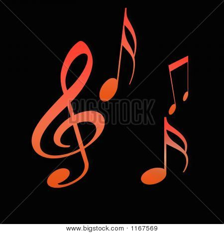 Hot  Music Abstract
