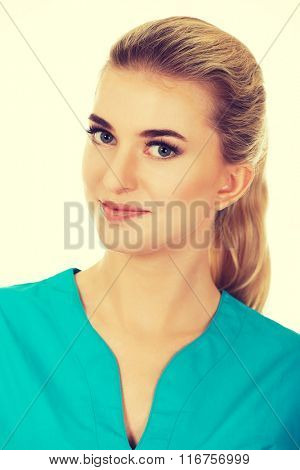 Young smile female doctor or nurse