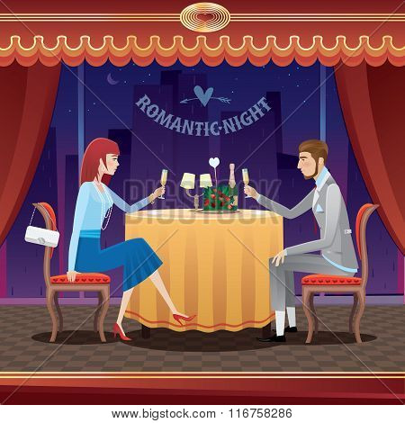 Romantic Date In A Restaurant