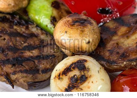 Delicious grilled vegetables.