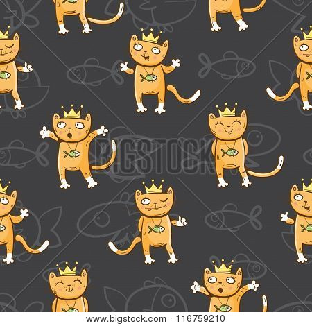 Pattern With Cats.