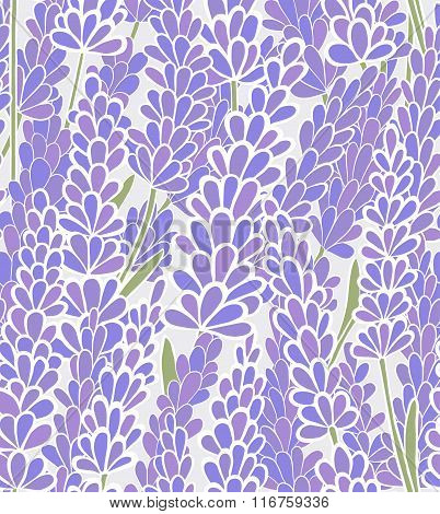 vector seamless lavender background