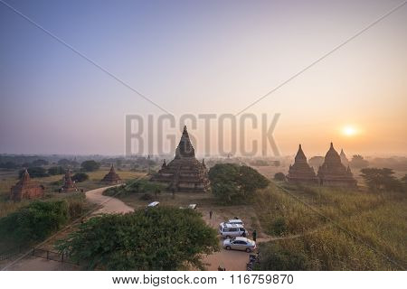 BAGAN, MYANMAR - DEC 13: Plain of Bagan (Pagan), Mandalay, Myanmar. 2015