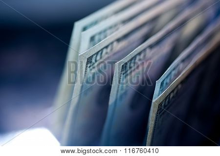 Hundred Dollar Bills Are On The Table. Concept Of Wealth And Prosperity