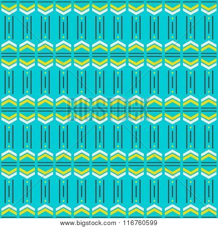 Abstract Geometric Bright Blue, Yellow And Grey Colored Pattern Background
