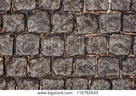 Background Of Grey Stone Tiles
