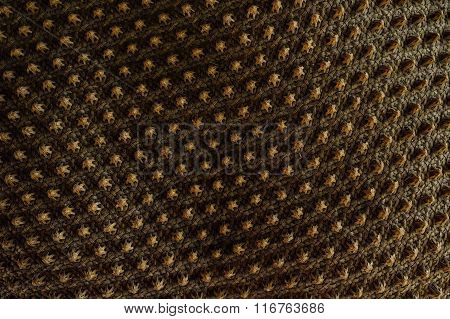Closeup Detail Of Brown Wicker Texture Background