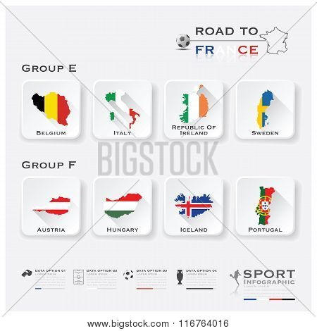 Road To France Football Tournament Sport Infographic