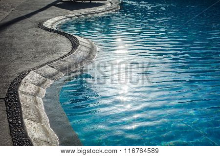Swimming Pool With At Hotel Close Up
