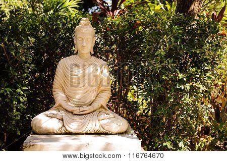 White Buddha Statue In Thailand
