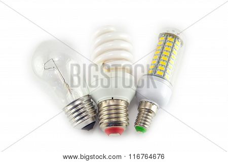 Led, Neon And Tungsten Bulbs With Check-boxes.