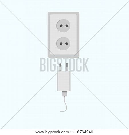 Electric power electricity plug and socket.