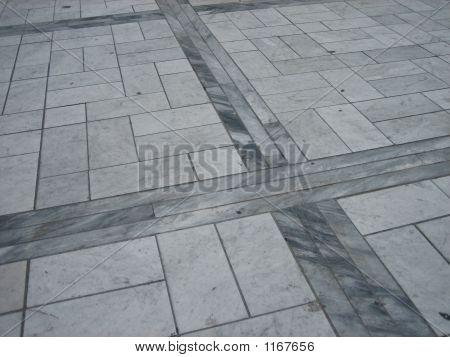 Marble Pavement, Carrara, Tuscany, Italy