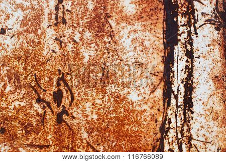 texture of rust on metal surface