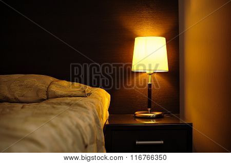 Reading Lamps In The Bedroom Near The Bed
