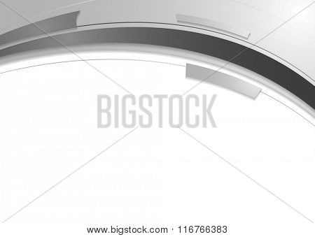 Grey white abstract wavy corporate design