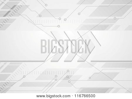 Tech grey abstract background with big arrows