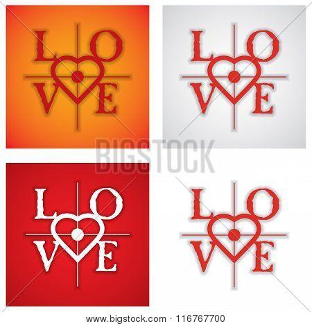 Set Of Love Sign