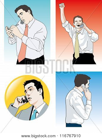 Businessman Phone.eps