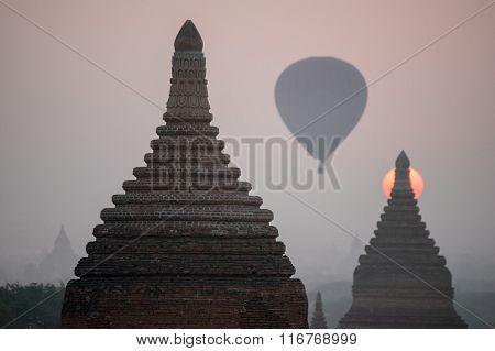 Plain of Bagan(Pagan), Mandalay, Myanmar.
