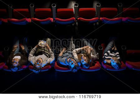 Young People In The Movie Theater
