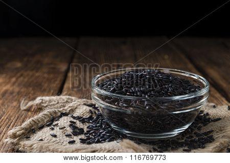 Portion Of Black Rice