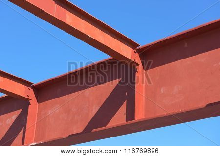 Red Of Steel Structure.