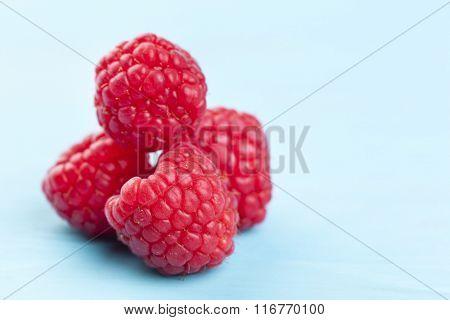 Rasberrys on a wooden table