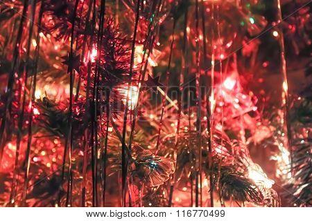 Shining Christmas-tree Tinsel.