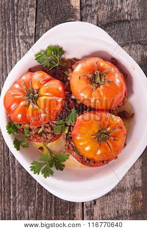 stuffed tomato with beef