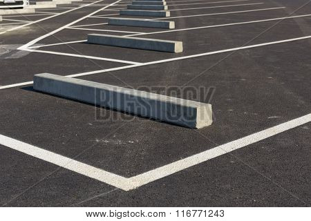 Row Of Car Park Sleeper.