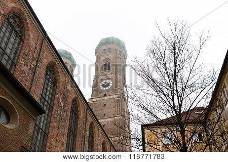 Towers Of Frauenkirche In Munich