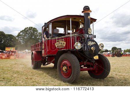 Vintage beer delivery truck