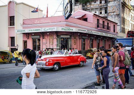 El Floridita Bar In Havana, Cuba
