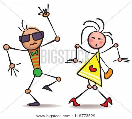Comical Dancing People