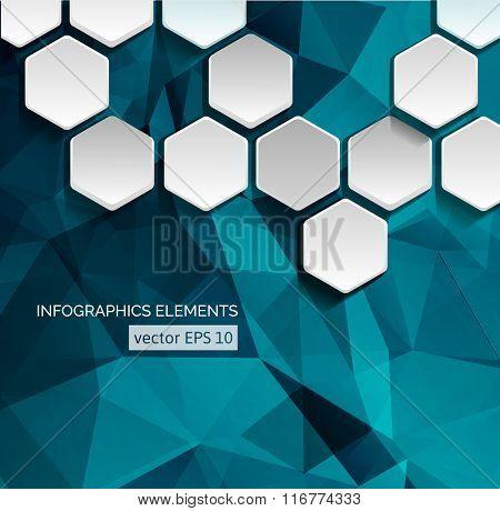 Geometric Hexagonal Shapes Background for Business / Web Design / Print / Presentation