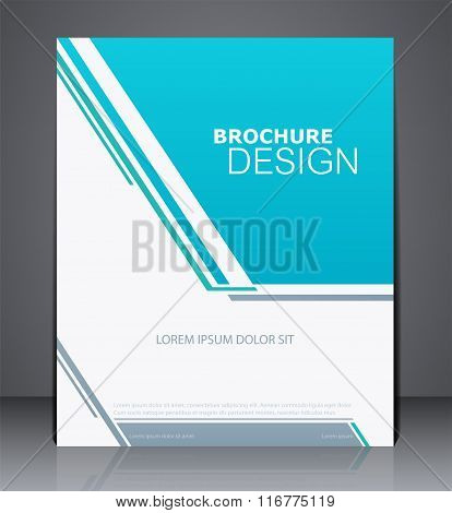 Abstract Business Brochure Flyer Design In A4 Size, Layout Templ