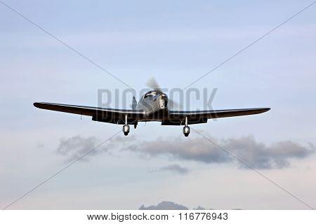 Miles Magister landing