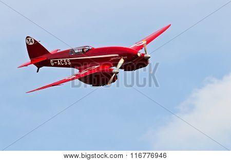 Vintage race aircraft