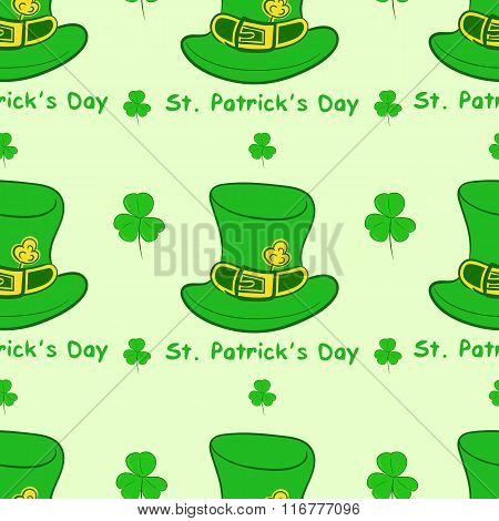 Seamless hats St. Patrick's Day