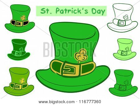 Clipart with Saint Patrick's hats