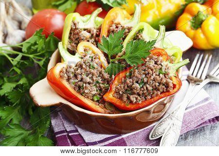 Stuffed Paprika With Meat