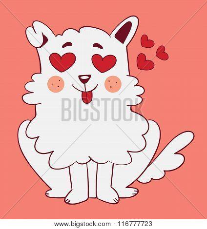 Cute Dog In Love