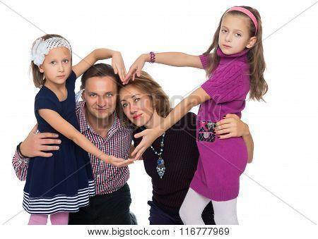 happy family makes the heart
