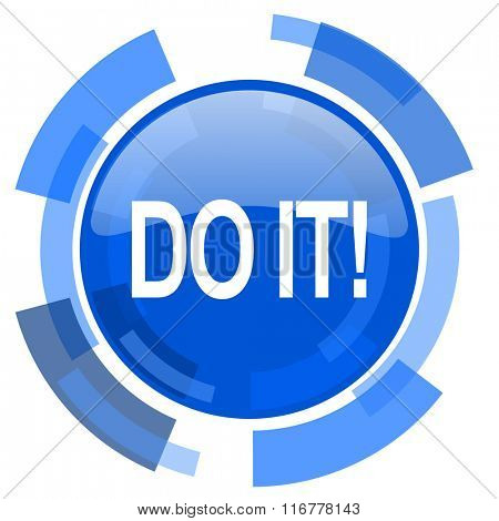 do it blue glossy circle modern web icon