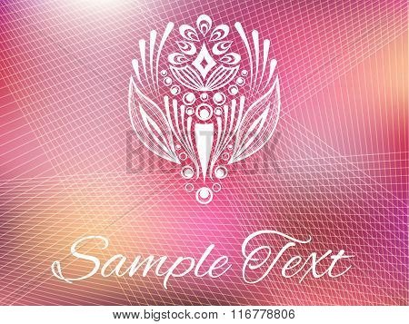 Pink background with ornament element