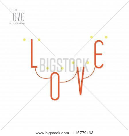 Love Happy Valentines Day  Illustration, Font Type